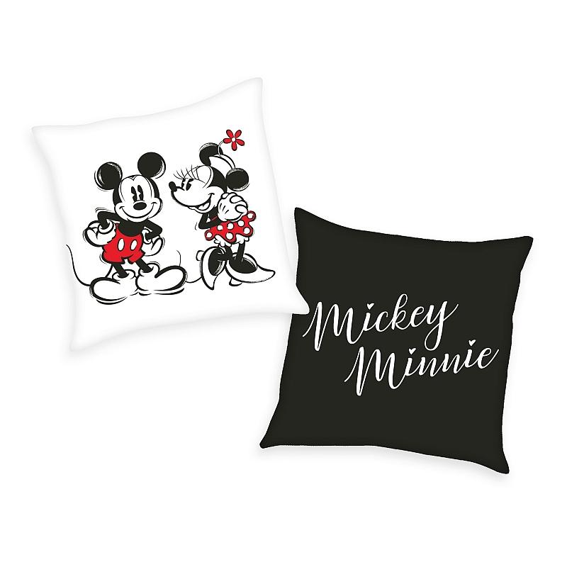 HERDING Vankúšik Mickey a Minnie  Polyester, 40/40 cm