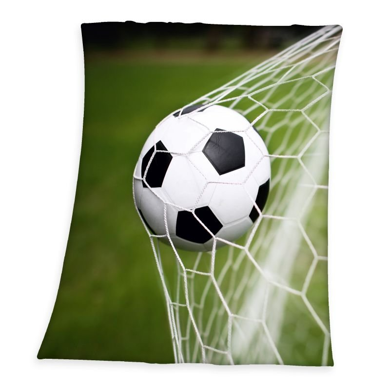 HERDING Fleece deka Fotbal  Polyester, 130/160 cm