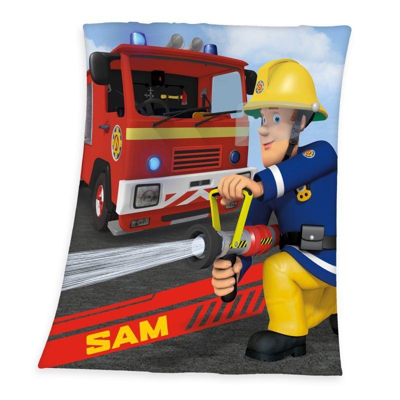Fleece deka Požiarnik Sam 130/160