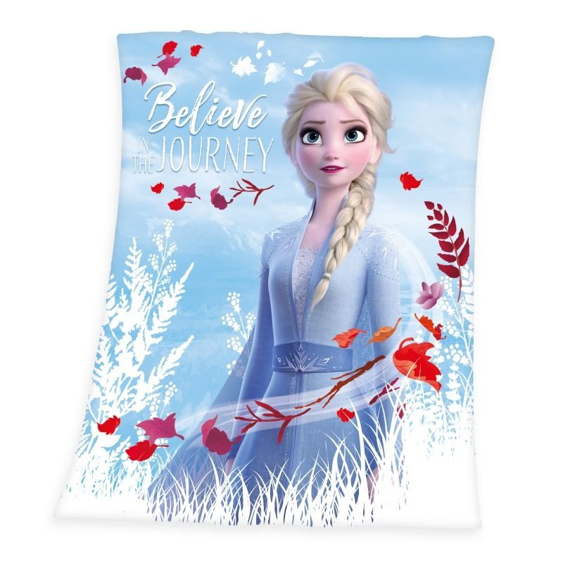 HERDING Fleece deka Ľadové Kráľovstvo 2 Believe Polyester, 130/160 cm