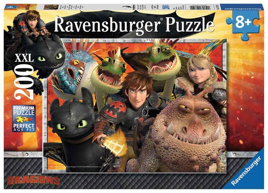 RAVENSBURGER Puzzle Ako si vycvičiť draka XXL  papír, 200 dílků cm