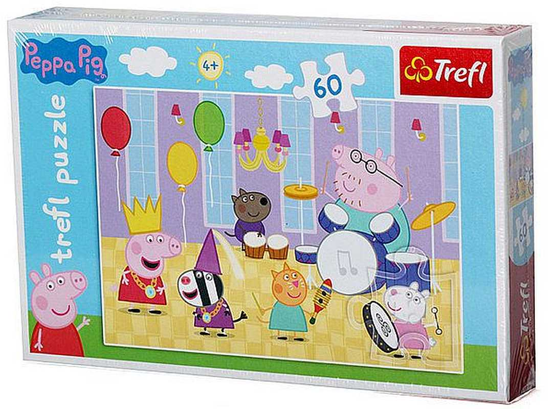 Puzzle Peppa Pig 60 dielikov Na plese