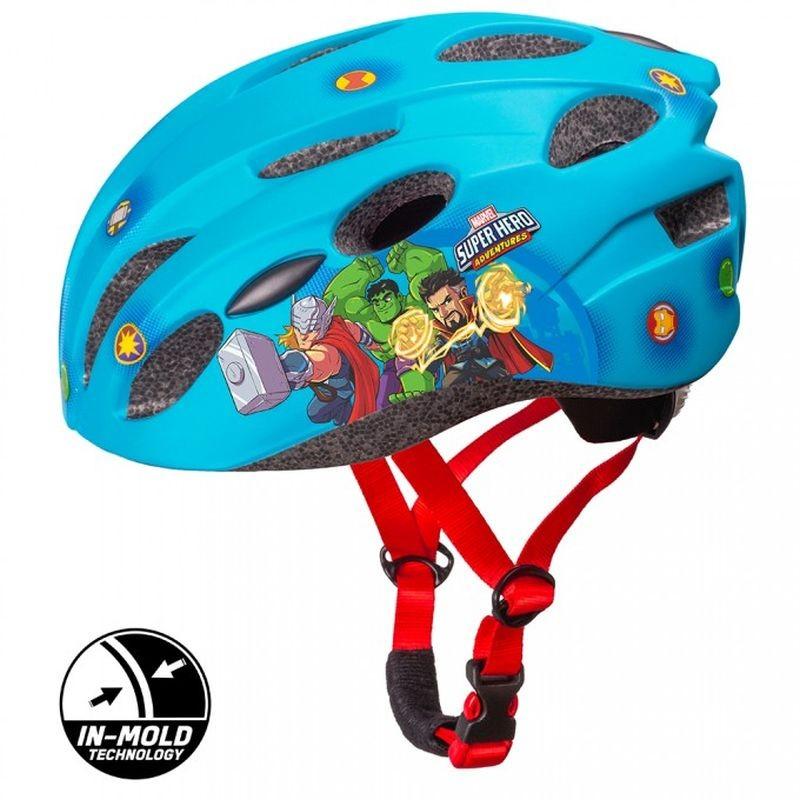SEVEN Detská cyklo prilba in mold Avengers modrá , vel. M, 52-56 cm