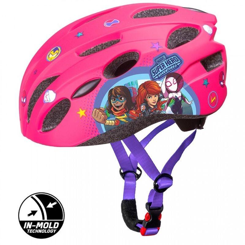 SEVEN Detská cyklo prilba in mold Avengers růžová , vel. M, 52-56 cm