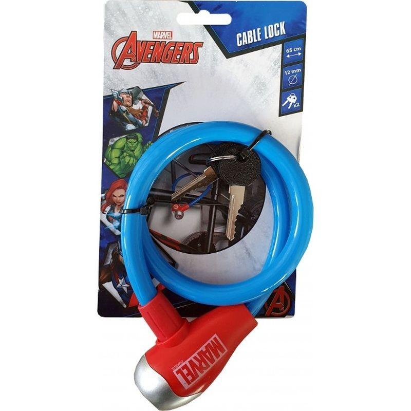 Zámok na bicykel lankový Avengers