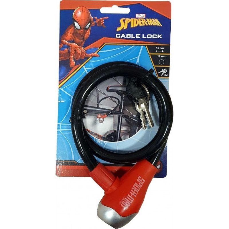 Zámok na bicykel lankový Spiderman