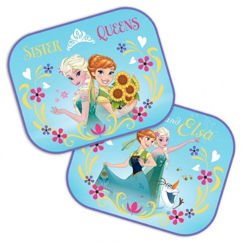 Slnečná clona Ledové Království Anna a Elsa 2 ks