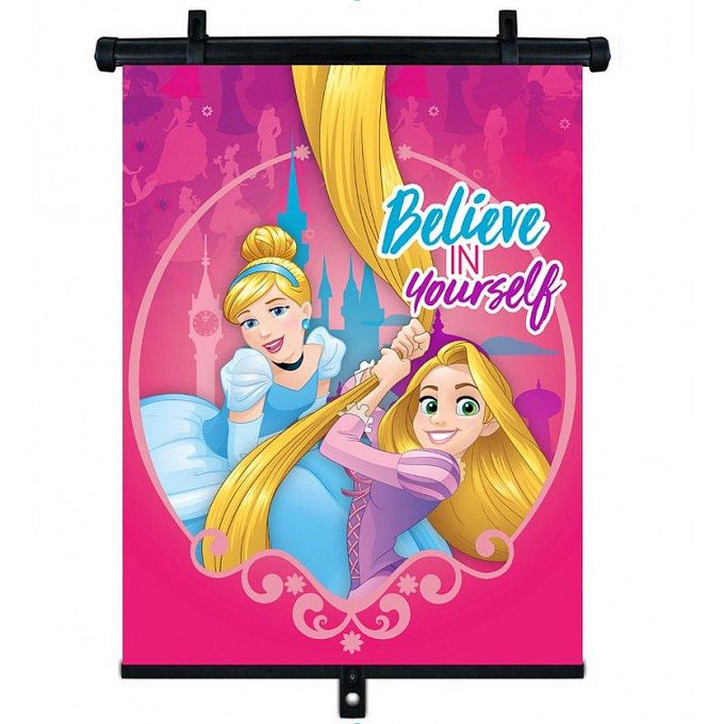 SEVEN Slnečná clona Roletka Disney Princezny  Plast, Polyester, 1ks cm