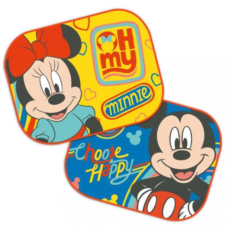 Slnečná clona Mickey a Minnie 2 ks