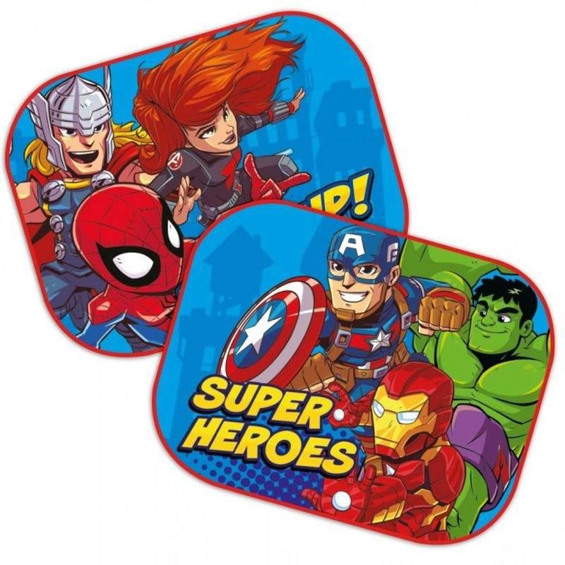 SEVEN Slnečná clona Avengers Super Hero  Polyester, 2ks