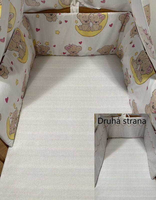SDS Mantinel do postieľky Medvedíky hnedá  Bavlna, výplň: Polyester, 195/28 cm