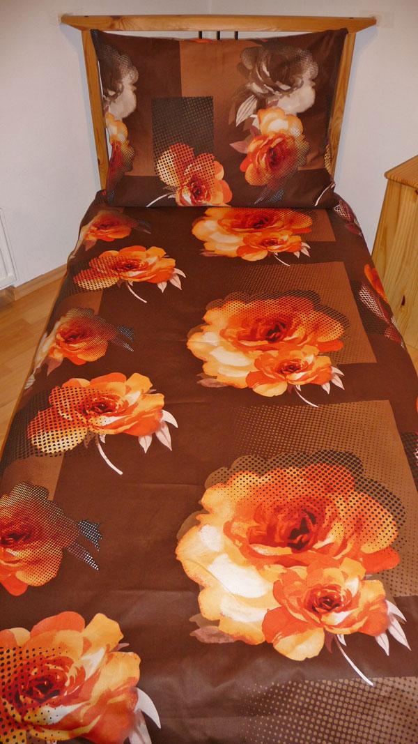 Obliečky bavlnený satén Royal orange 140/200, 70/90