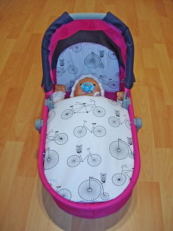 Perinky do kočíka pre bábiky Bicycle