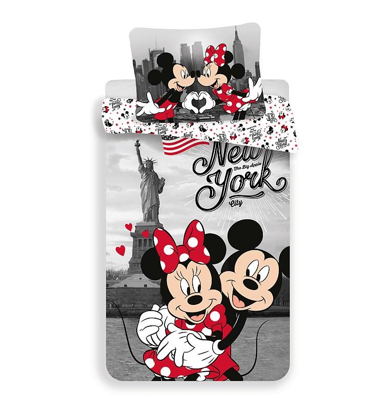 Obliečky Mickey a Minnie v New Yorku Love 140/200, 70/90