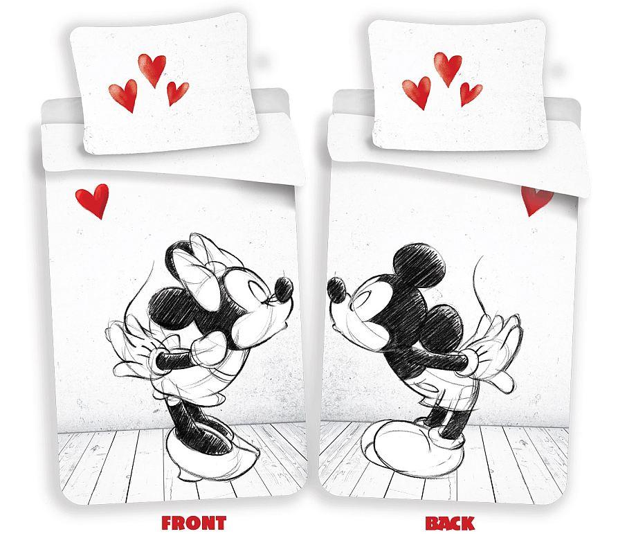 JERRY FABRICS Obliečky Mickey a Minnie láska 02 Bavlna, 140/200, 70/90 cm