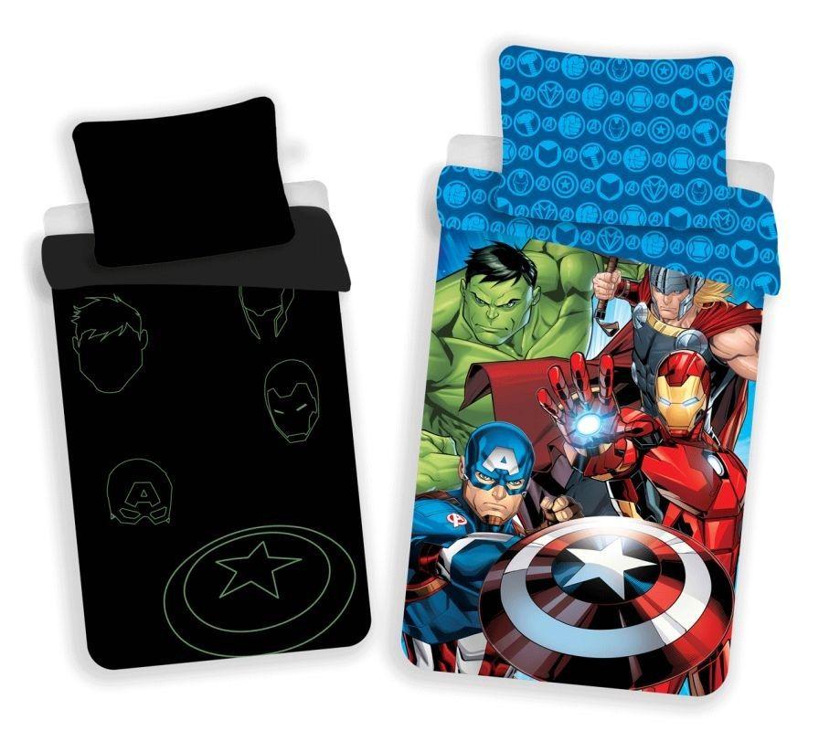 JERRY FABRICS Obliečky Avengers 02 svítící Bavlna, 140/200, 70/90 cm