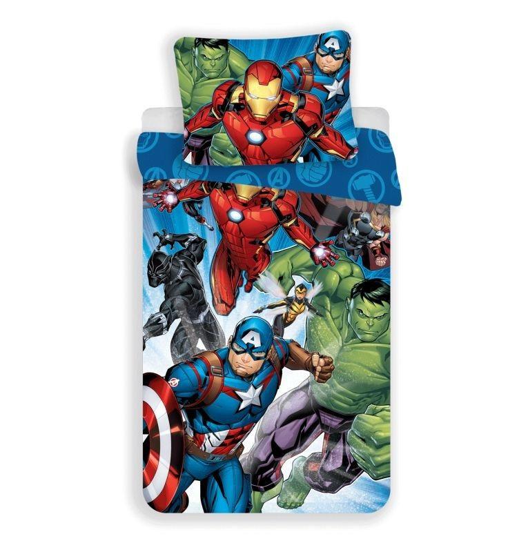 JERRY FABRICS Obliečky Avengers Brands 02 Bavlna, 140/200, 70/90 cm