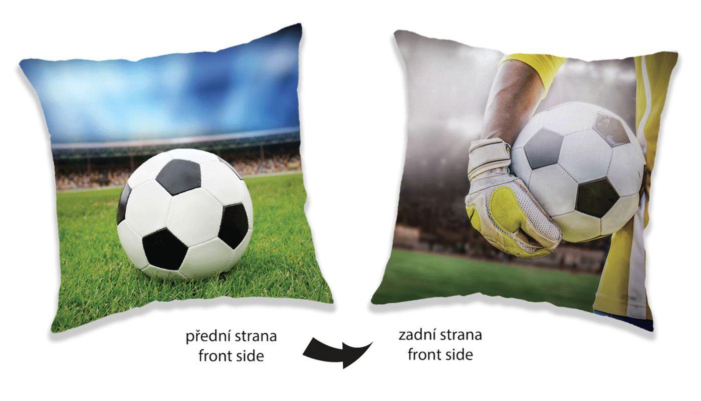 JERRY FABRICS Vankúšik Futbal  Polyester, 40/40 cm