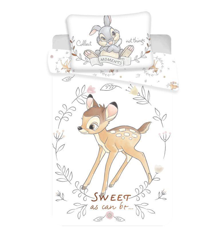 JERRY FABRICS Obliečky do postieľky Bambi sweet baby  Bavlna, 100/135, 40/60 cm
