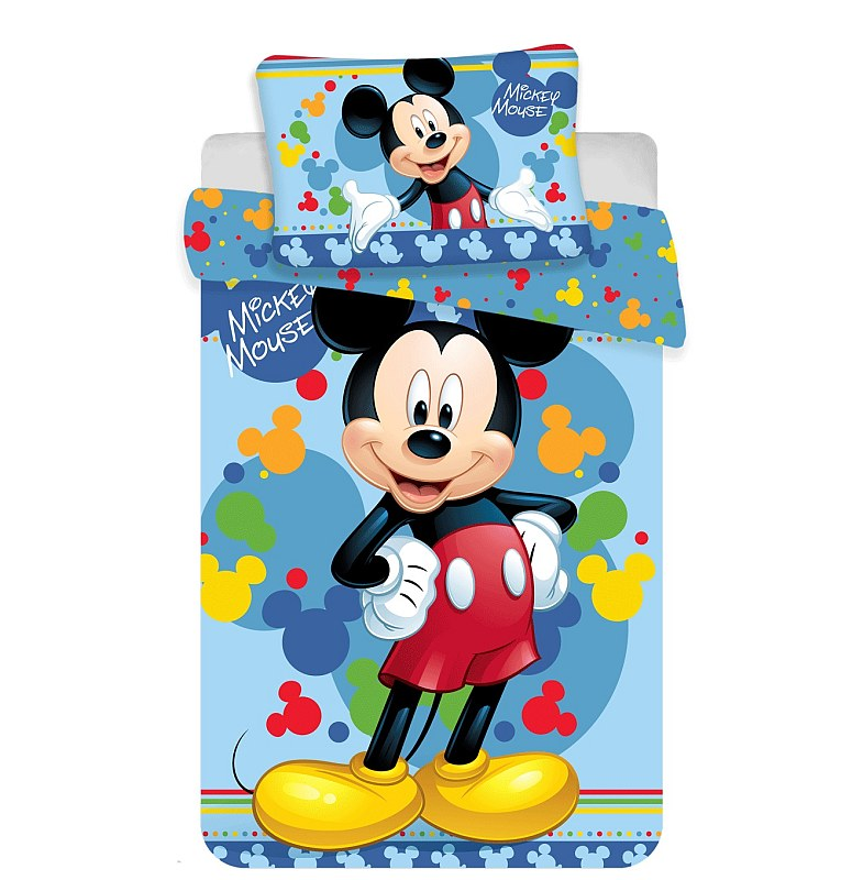 Obliečky do postieľky Mickey 02 baby Bavlna, 100/135, 40/60 cm