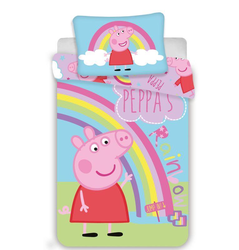 Obliečky do postieľky Peppa Pig 016 baby 100/135, 40/60