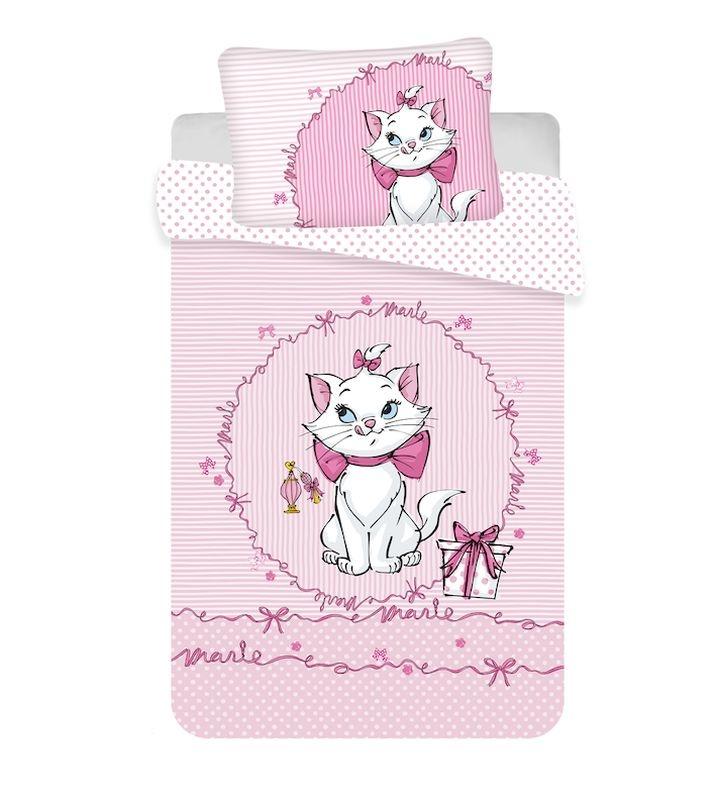 JERRY FABRICS Obliečky do postieľky Mačička Marie Pink baby  Bavlna, 100/135, 40/60 cm