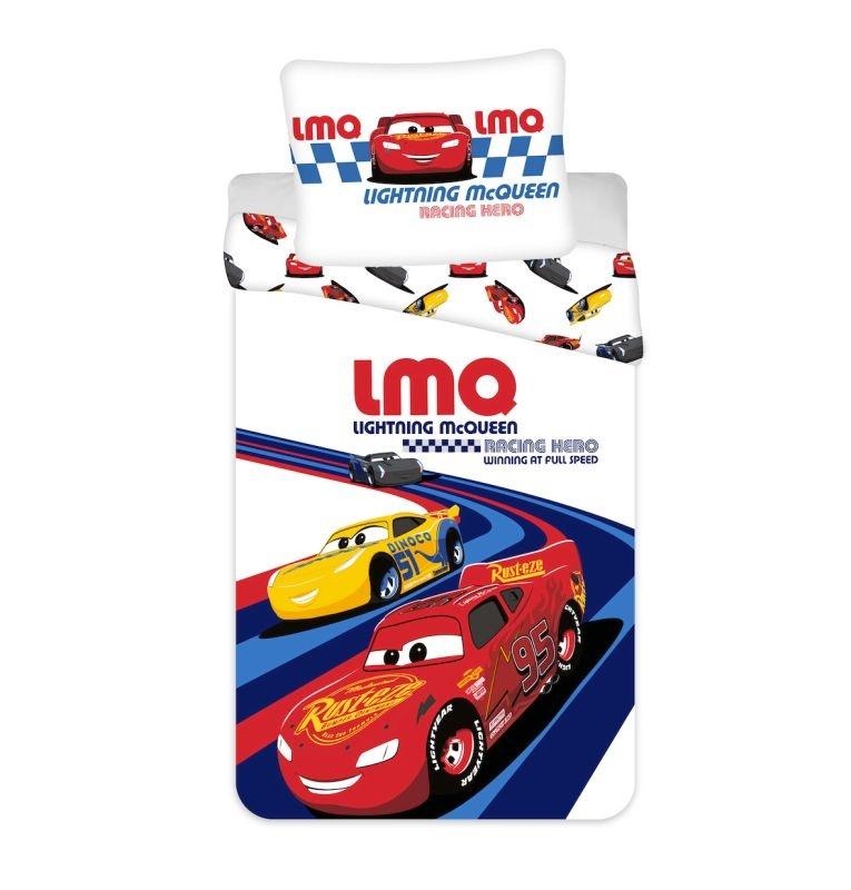 JERRY FABRICS Obliečky do postieľky Cars Racing Hero baby  Bavlna, 100/135, 40/60 cm