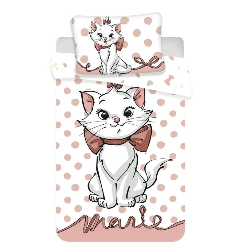 JERRY FABRICS Obliečky do postieľky Mačička Marie dots 02 baby Bavlna, 100/135, 40/60 cm