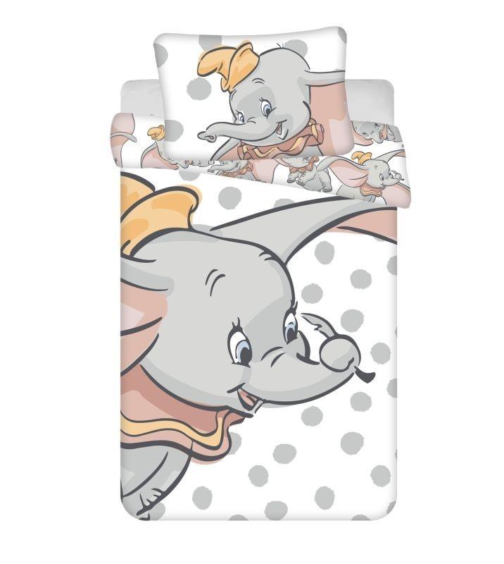 JERRY FABRICS Obliečky do postieľky Dumbo dots baby  Bavlna, 100/135, 40/60 cm