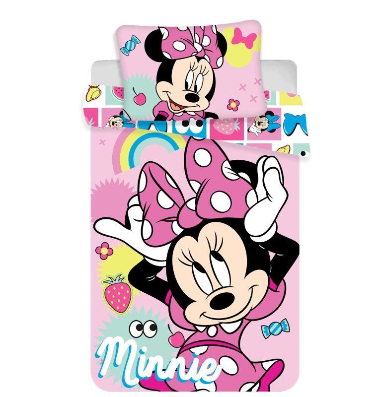 JERRY FABRICS Obliečky do postieľky Minnie pink square baby  Bavlna, 100/135, 40/60 cm