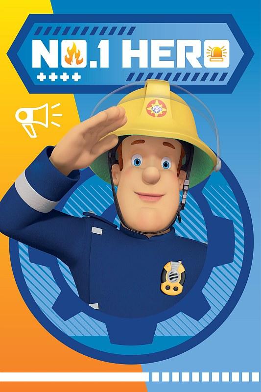 Fleece deka Požiarnik Sam Hero 100/150