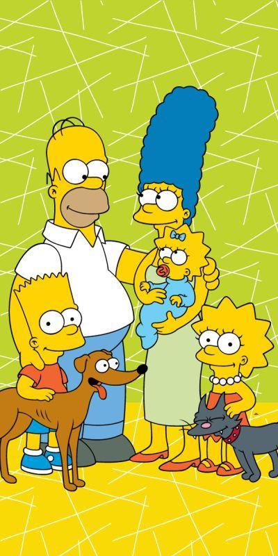 Osuška Simpsons Family green 02 70/140