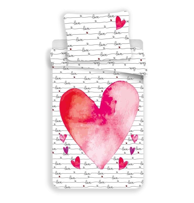 JERRY FABRICS Obliečky Love  Bavlna, 140/200, 70/90 cm