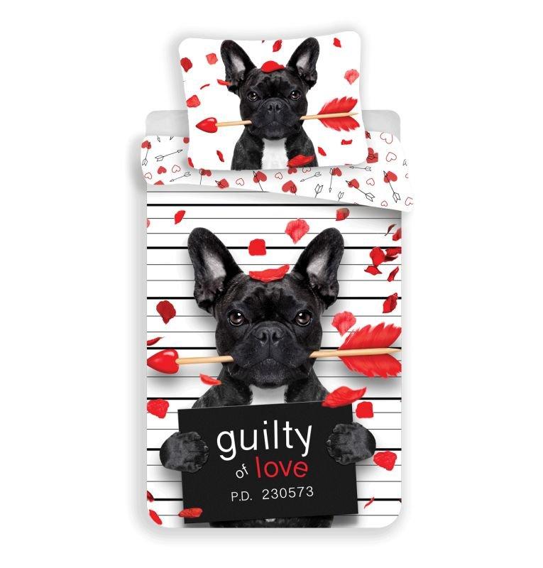 Obliečky Bulldog Heart 140/200, 70/90