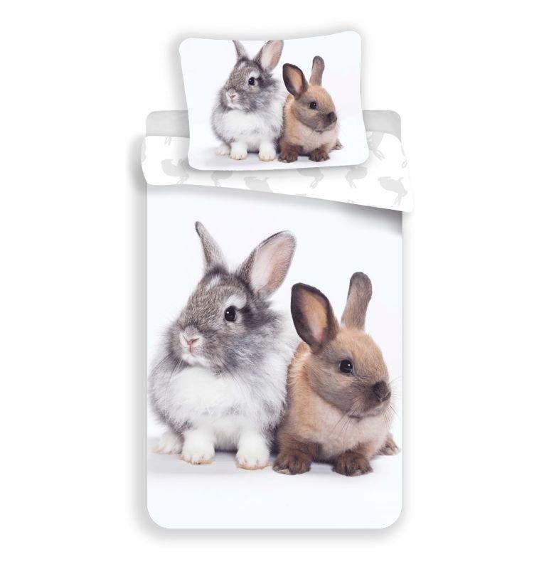 Obliečky Bunny Friends 140/200, 70/90