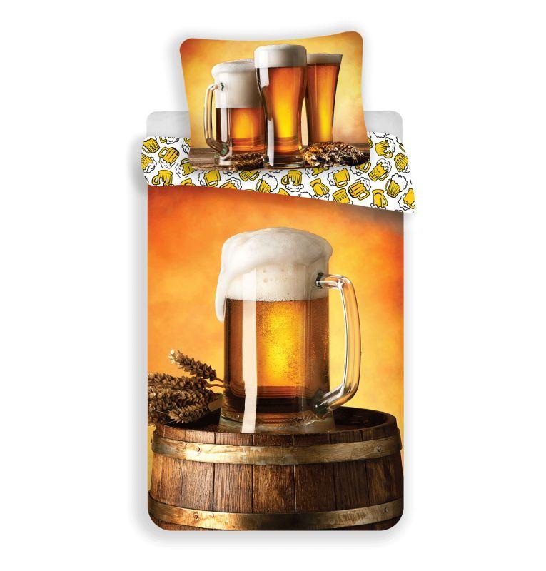 Obliečky Golden Beer Pivo 140/200, 70/90 cm