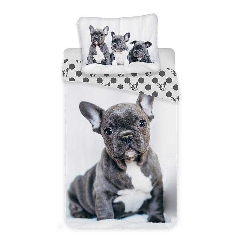 JERRY FABRICS Obliečky Bulldog  Bavlna, 140/200, 70/90 cm