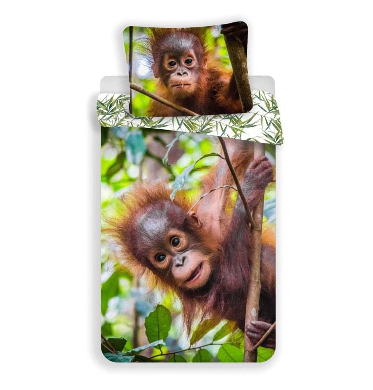 JERRY FABRICS Obliečky Orangután 02 Bavlna, 140/200, 70/90 cm