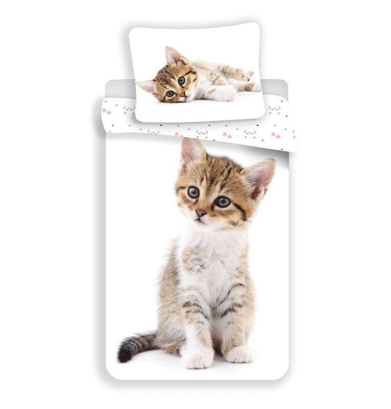 Obliečky Kitten white 140/200, 70/90