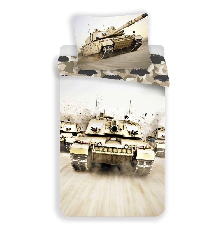 JERRY FABRICS Obliečky Tank  Bavlna, 140/200, 70/90 cm