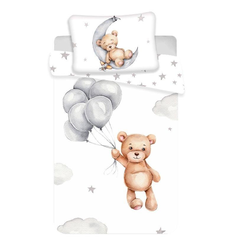 JERRY FABRICS Obliečky do postieľky Medvedík baby  Bavlna, 100/135, 40/60 cm