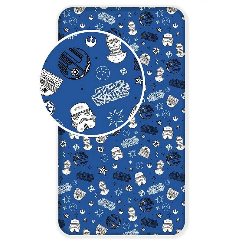 JERRY FABRICS Plachta Star Wars blue galaxy  Bavlna, 90/200 cm