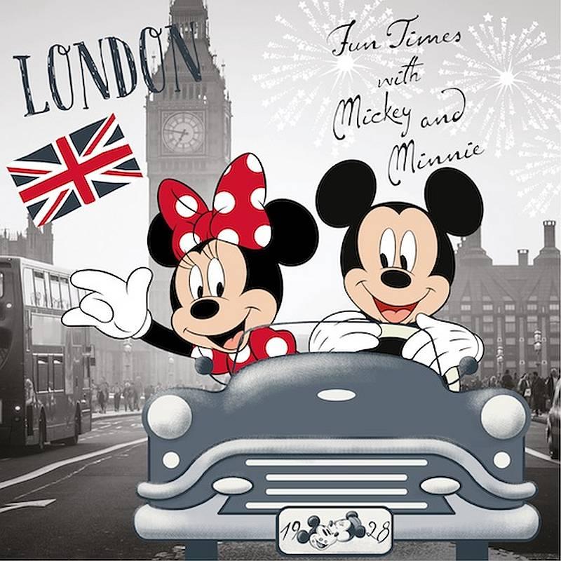 Obliečka na vankúšik Mickey a Minnie v Londýne 40/40