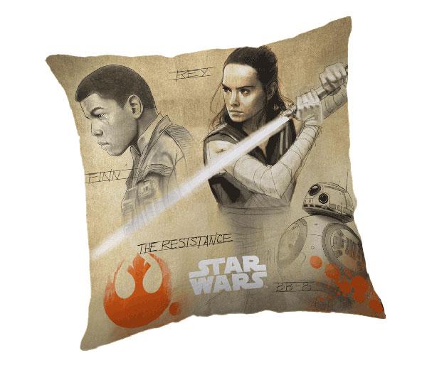 Povlak na vankúš Star Wars 8 Finn a Rey micro 40/40
