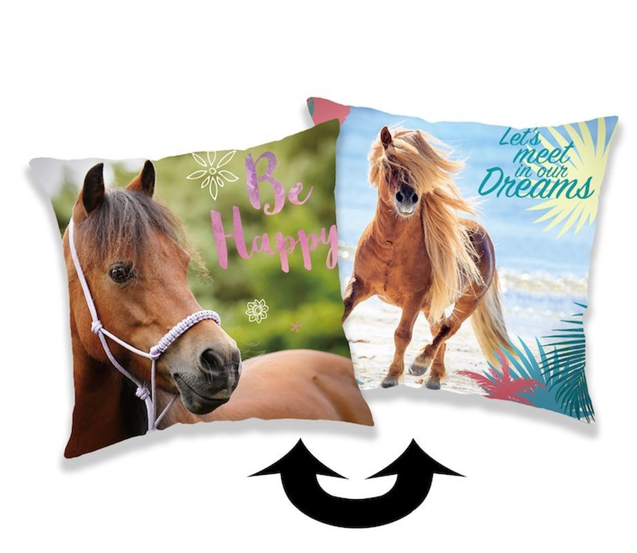 Meniaci obliečka na vankúšik s flitrami Horse heart 40/40