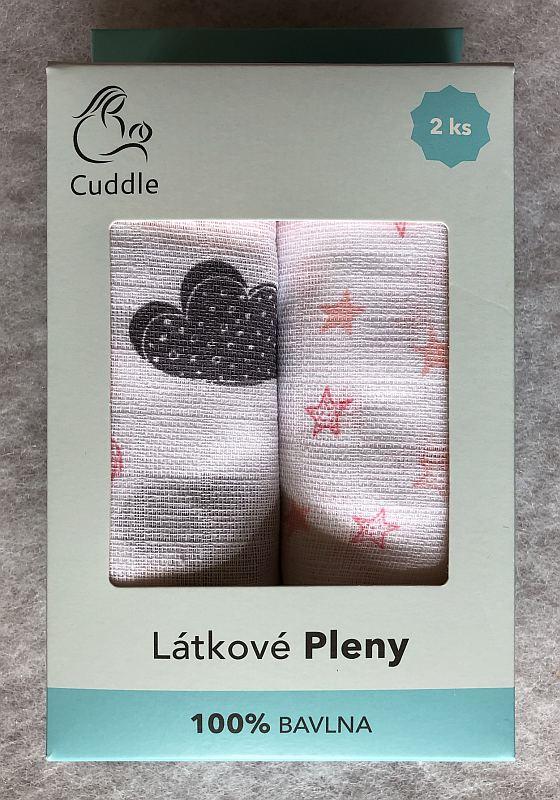 PREM Detské látkové pleny v darčekovej krabičke pre dievčatko  Bavlna, 70/70 cm