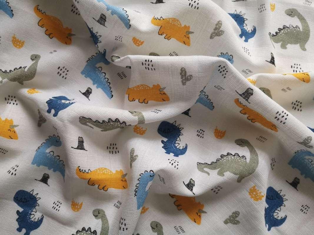 PREM Bavlnená tetra osuška Dinosaurus  Bavlna, 90/100 cm