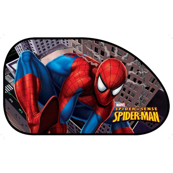 Slunečná clona  Spiderman bočná 65x38cm2 ks