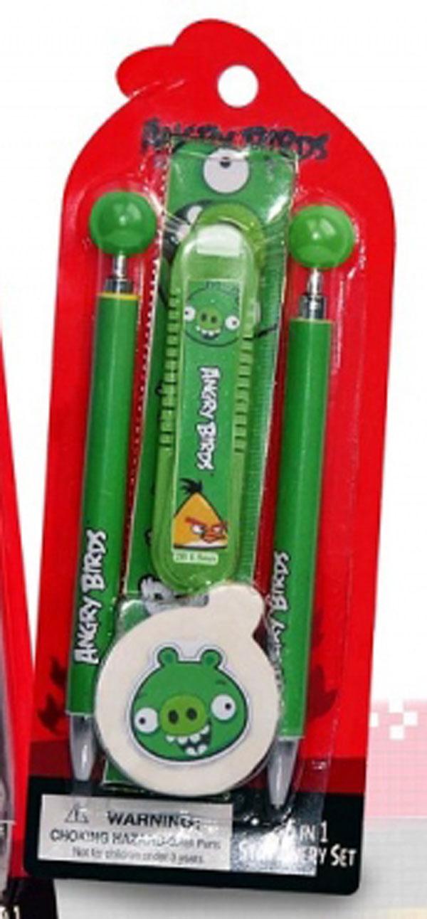 Sada písacích potrieb Angry Birds zelená
