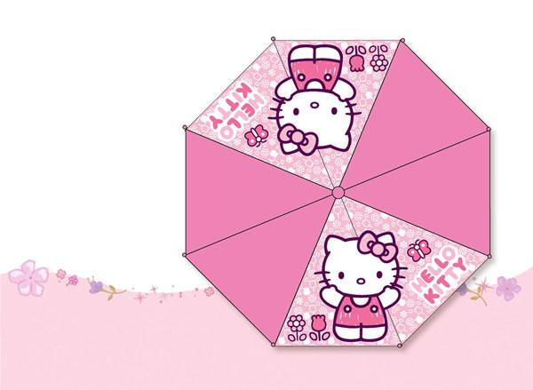 Vystreľovací dáždnik Hello Kitty ružová